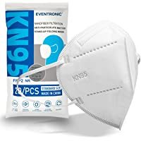 KN95 gezichtsmaskers-Eventronic 5Layer KN95 masker niet-geweven stof Zachte en comfortabele veiligheidsafdekking (Pack…