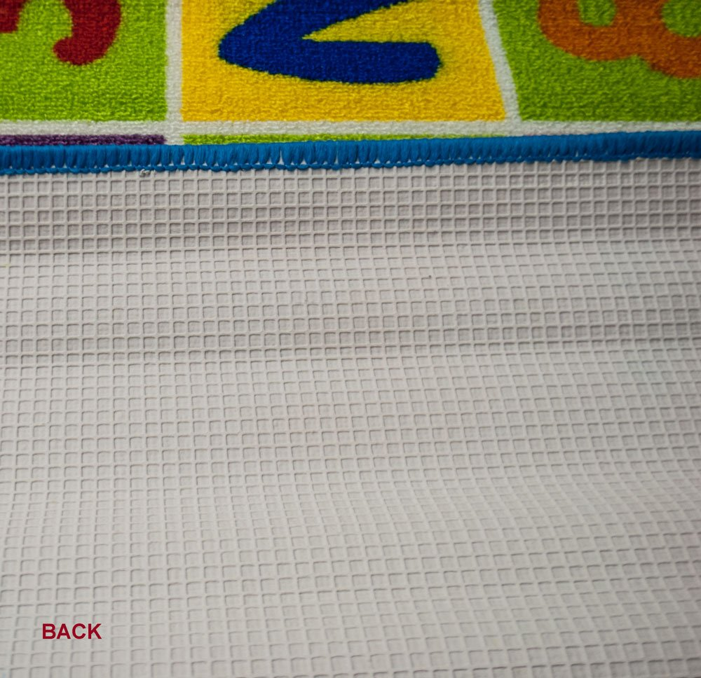 Mybecca Kids Rug ABC-1 Numbers Children Area Rug 5X7 Non Skid Gel Backing 59 x 82