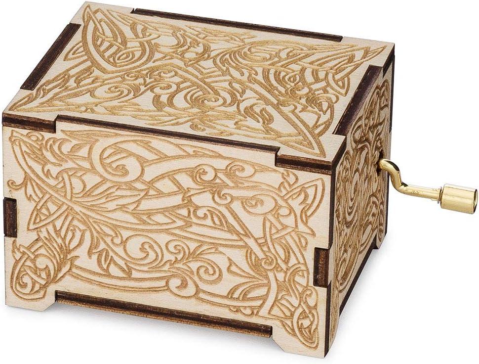 TheLasersEdge, Caja de música Personalizable, Reproduce la ...
