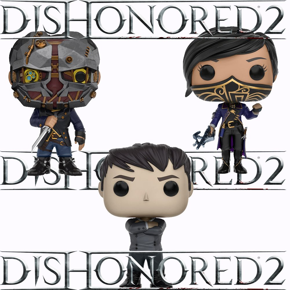 Dishonored 2 Outsider, Emily, Corvo Pop Vinyl Figures Set of 3 by Dishonored