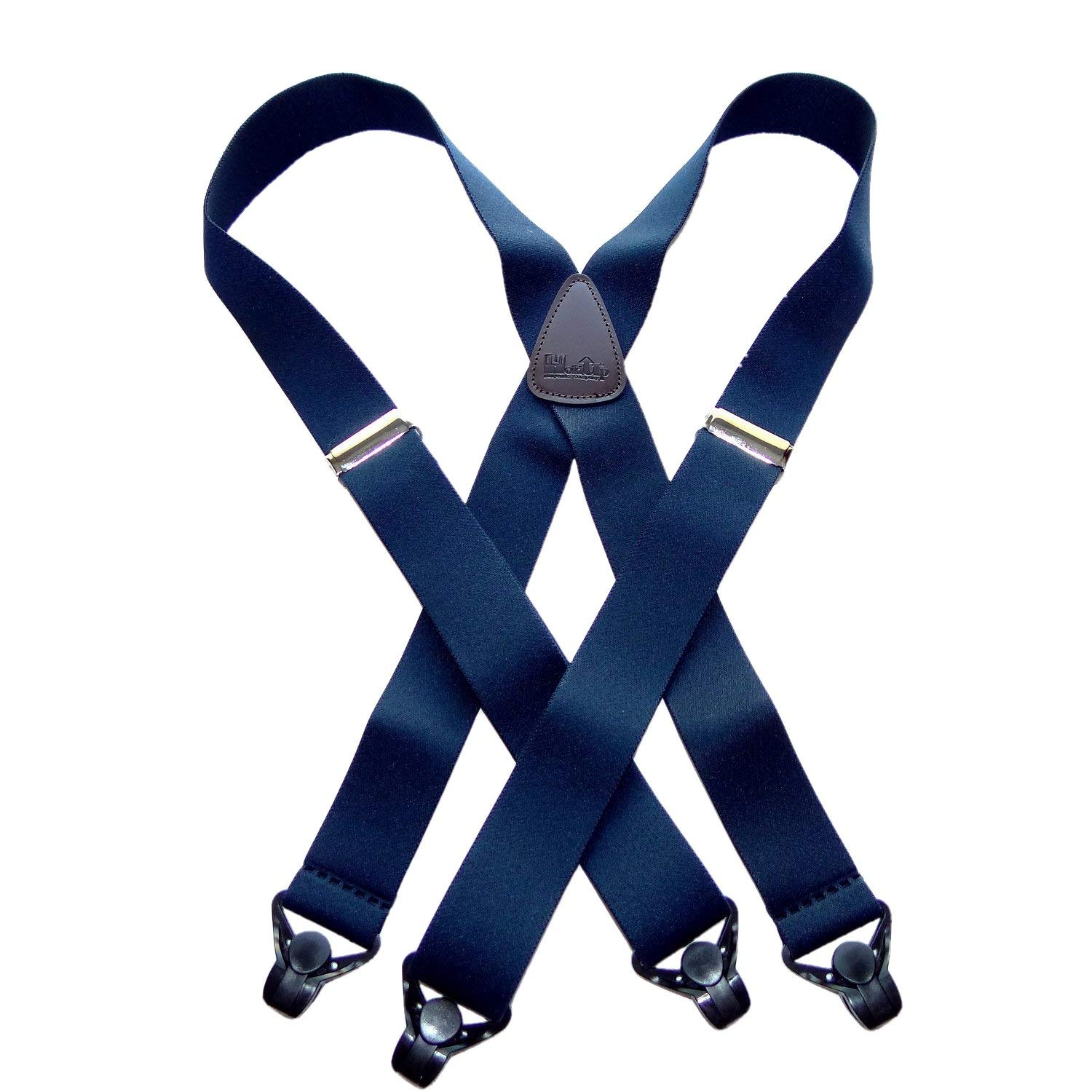 fa9a87b3e Holdup Suspenders in Navy Blue X-back Snow Ski Suspenders with Patented  Gripper Clasps in 1 1 2