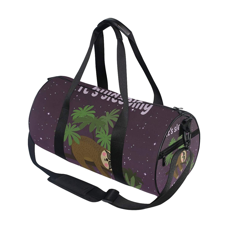 Gym Duffel Bag Koala Sitting On Tree Sports Lightweight Canvas Travel Luggage Bag