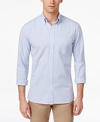BROOKS BROTHERS Seersucker Camisa, Azul (Light/Pastel Blue 455), 40 (Tallas De Fabricante:Large) para Hombre: Amazon.es: Ropa y accesorios