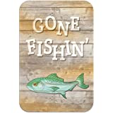 "Gone Fishing Novelty Metal Sign 6"" x 9"""
