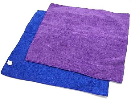50X Chiffon de Nettoyage en Microfibre Serviette Bleue pour le Polissage K5T7