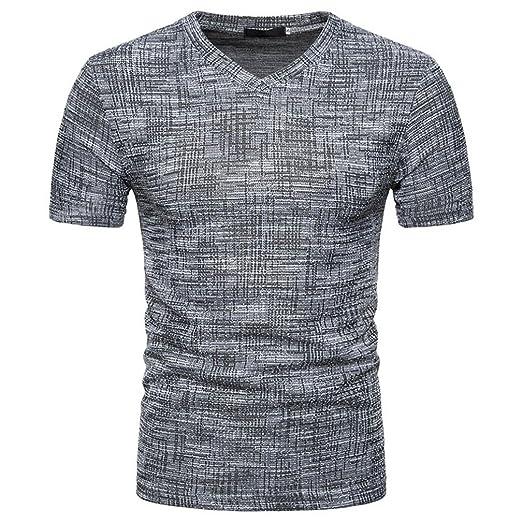 1e593d145 Amazon.com: BSGSH Shirt for Men Short Sleeve V Neck Lightweight Retro Sport  Fitness T-Shirts Tee: Clothing
