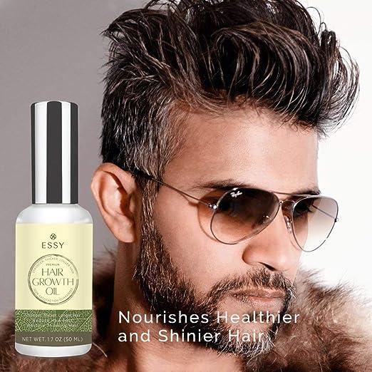 Aceite de crecimiento natural para el cabello con cafeína - Aceite para crecimiento del cabello más fuerte, grueso y más largo: Amazon.es: Belleza