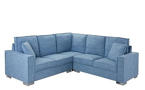 Amazon.com: Moderno sofá de sala de estar con tela de lino ...