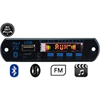 Electronicspices Bluetooth FM USB AUX Card MP3 Stereo Audio Player Decoder Module Kit with Remote for Audio Amplifier DIY