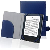 """Book Style Litch Pu Leather Case Cover for 6"""" ebook Reader Case Cover for Sony/kobo/Pocketbook/Nook/tolino 6inch ebook Reader (Blue)"""