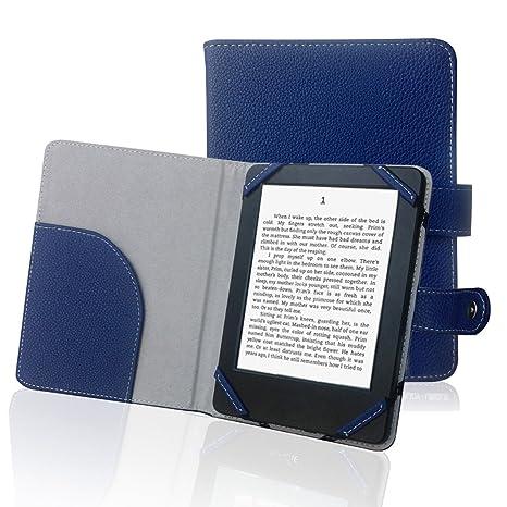 """Libro Estilo Litch Funda de Piel sintética para Lector de eBook 6 """"Carcasa para"""