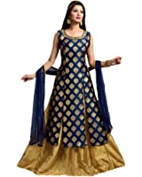 indo western wear for women(Trimurti_Blue_stitched_Free size)