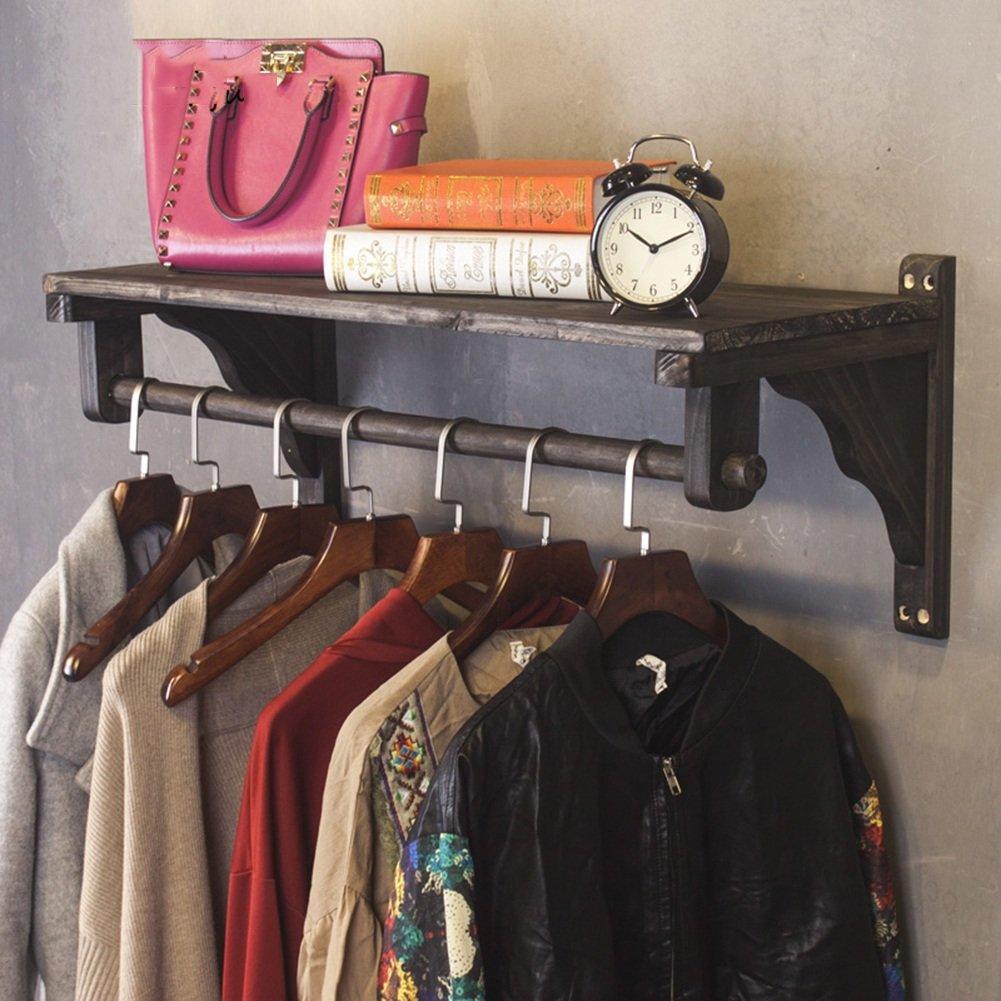 Amazon.com: QIANGDA Wooden Coat Hat Rack Wall Mounted Wall ...