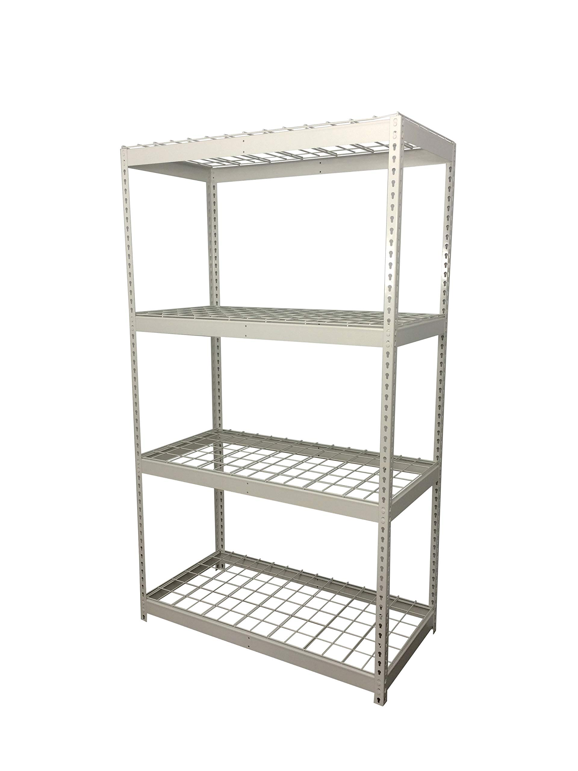 SafeRacks Garage Storage Rack | Steel Shelving Unit | 2'D x 4'W x 7'T by SafeRacks