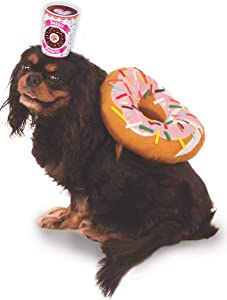 Donut and Coffee Pet Suit, Medium