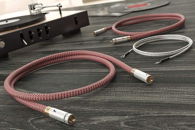 Ricable DT1 DEDALUS 2 x 1 m - High-End Cable Audio Cinch RCA ...