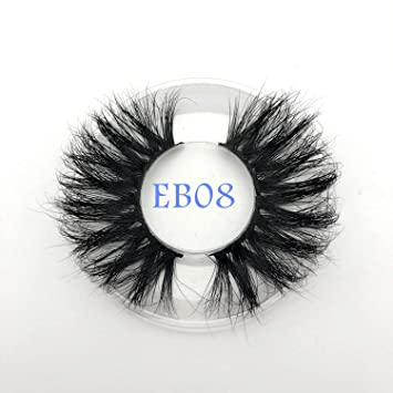 0912a693361 Amazon.com : New arrival mink lashes 25mm natural long 3D mink strip fur  handmade eyelashes wholesale price, EB08 : Beauty