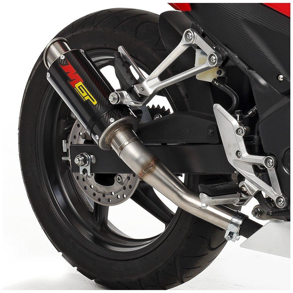 13-16 MGP Exhaust CF w//Stainless End Cap CBR300R Hotbodies Racing 41302-2404 HON 2015/' CBR500R//X//F 2015 CBR300R CF w//Stainless End Cap MGP Exhaust