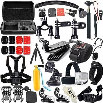 Candora TM GoPro Accesorios 43 + 3 2 1 Set Kit telescópico Monopod ...