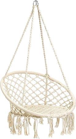 Amazon Com Cctro Hammock Chair Macrame Swing Boho Style Rattan