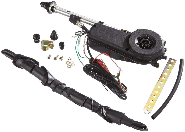 Antenne é lectrique universelle pour voiture 12 V en acier inoxydable. Signeda