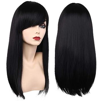 Amazon.com  Girls Kids Long Straight Black Costume Hair Wigs Women Cosplay  Party Wig (2001 Black)  Beauty 714db4d82962