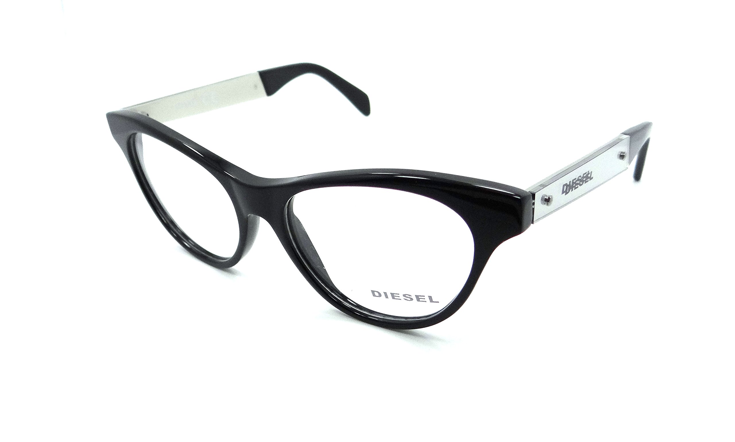 Diesel Rx Eyeglasses Frames DL5059 001 52-16-140 Shiny Black by Diesel