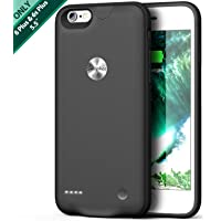 iPhone 6 Plus/6s Plus Battery Case, Smiphee 3600mAh Portable Charging Case for iPhone 6 Plus& 6s Plus (5.5 inch) Extended Charger Case/Lightning Cable Input Mode (Black)
