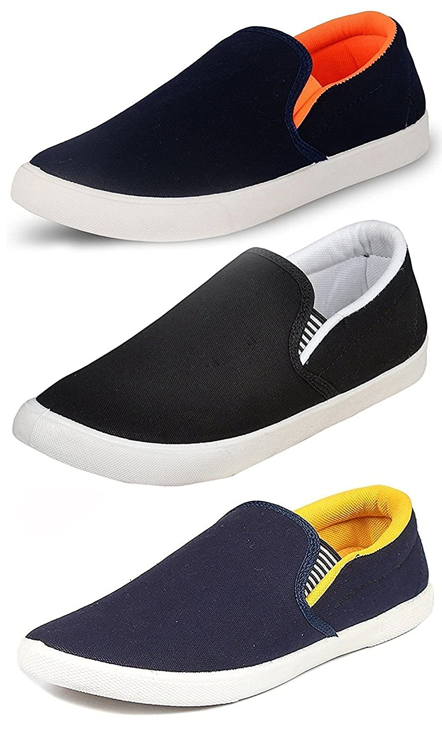 Ethics Men's Perfect Combo Pack of 3 Stylish Casual Loafer Shoes