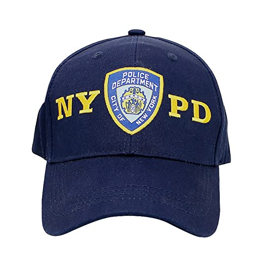 2b7f3ff36 City-Souvenirs Official NYPD Hat/Baseball Cap, Navy Blue Police Department  NYPD with Adjustable Velcro Strap