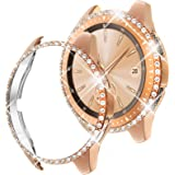 Goton Compatible for Samsung Galaxy Watch 42mm Case Bling 2018 Release , Women Crystal Diamond Watch Face Cover Shiny PC…