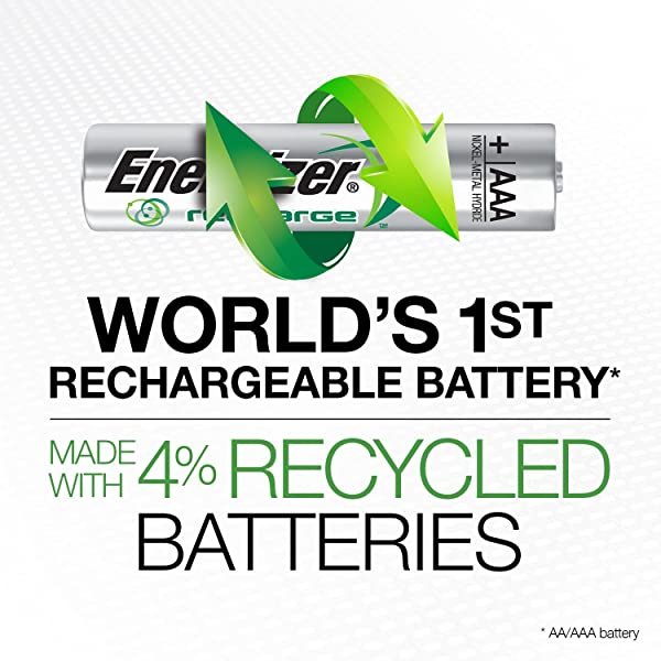 Energizer NiMH 800mAh AAA is the best Rechargeable Battery