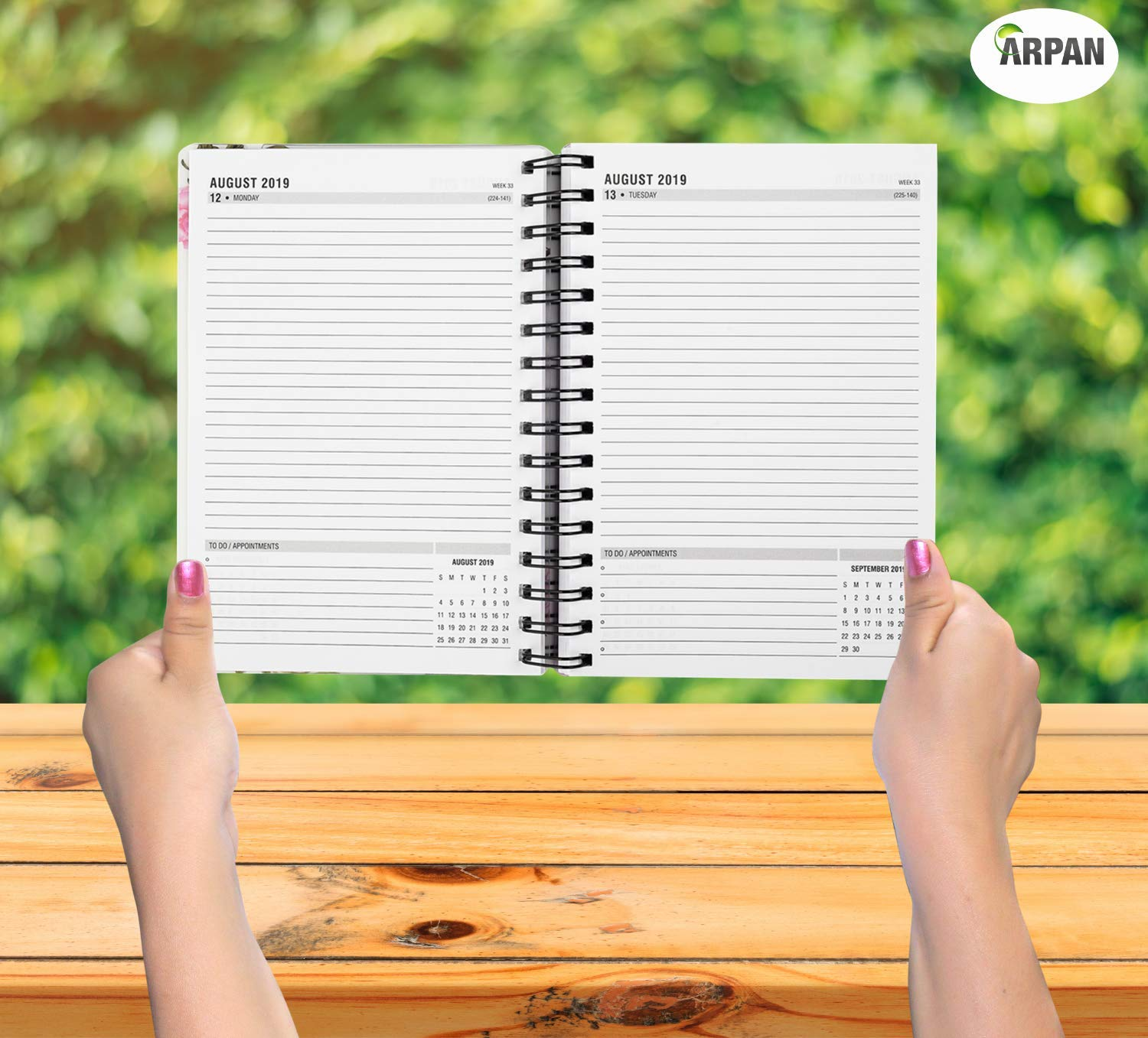 Amazon.com : 2019-2020 Diary One Day to Page A5 Spiral Mid ...