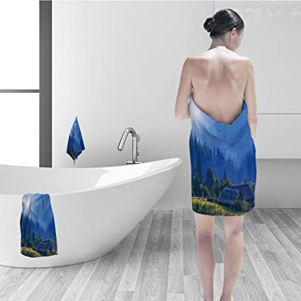 Bathroom girl in velage