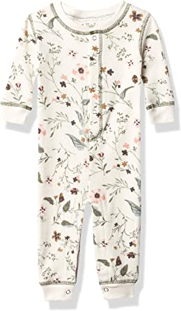 PJ Salvage Kids Baby Kids Sleepwear Long Sleeve Peachy Romper