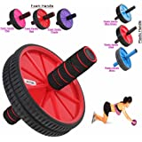 Abs Wheel dual Exercise Roller Gym Abdominal Training Body Fitness Slim Trim Tone Exerciser Back Thigh Arms Waist Workout Machine
