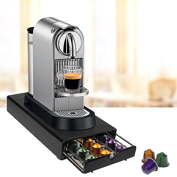 AMOS Cajón para 30 Cápsulas de Café Nespresso Dispensador Porta Organizador Estante Soporte de Máquina de Café: Amazon.es: Hogar
