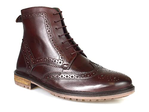 9e33c095241ad Silver Street Gerrard Oxblood Leather Formal Mens Brogue Boots