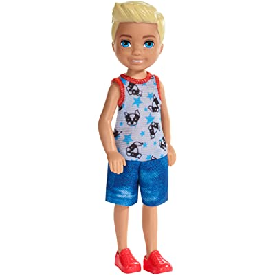 ​Barbie Club Chelsea Doll, 6-Inch Blonde Boy Doll Wearing Puppy-Themed Romper, for 3 to 7 Year Olds: Toys & Games