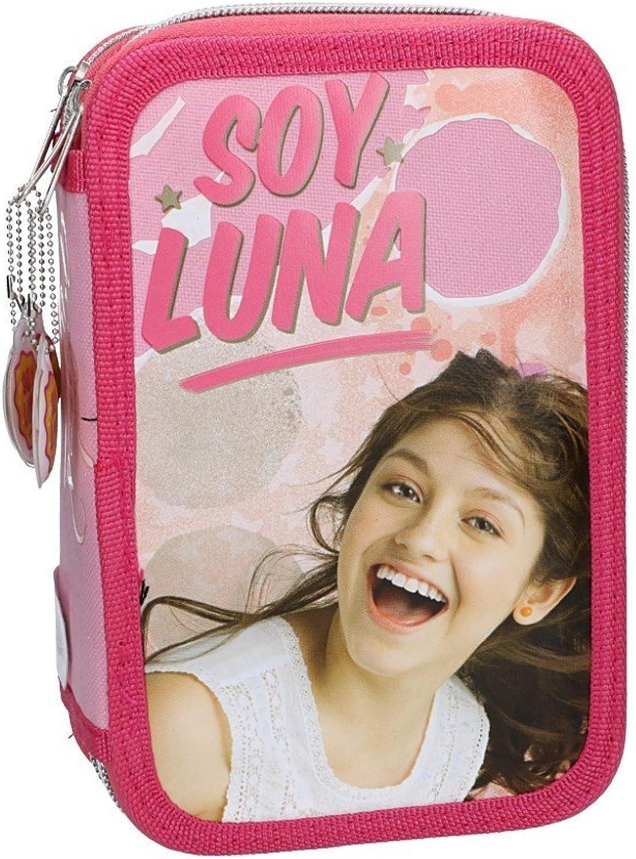 Soy Luna Estuche Lápiz caso de la escuela triple rosa 3 zip VZ586: Amazon.es: Ropa y accesorios