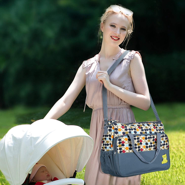 Fashion Mom Bag Multifunctional Mother Bag Five-piece Set Outdoor Travel Bag TP