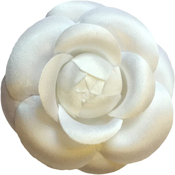 Metallic Brooch Floral Clip Camellia Hair Clip Floral Brooch Pin Camellia Brooch Bridal Wedding Jewelry