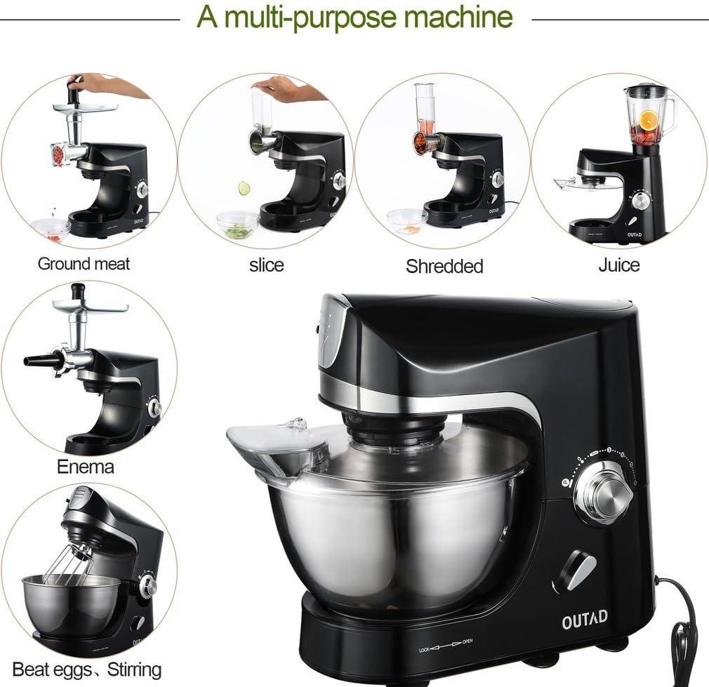 Robot de cocina profesional con accesorios, Robot de cocina pastelero multifunción con accesorios.: Amazon.es: Hogar