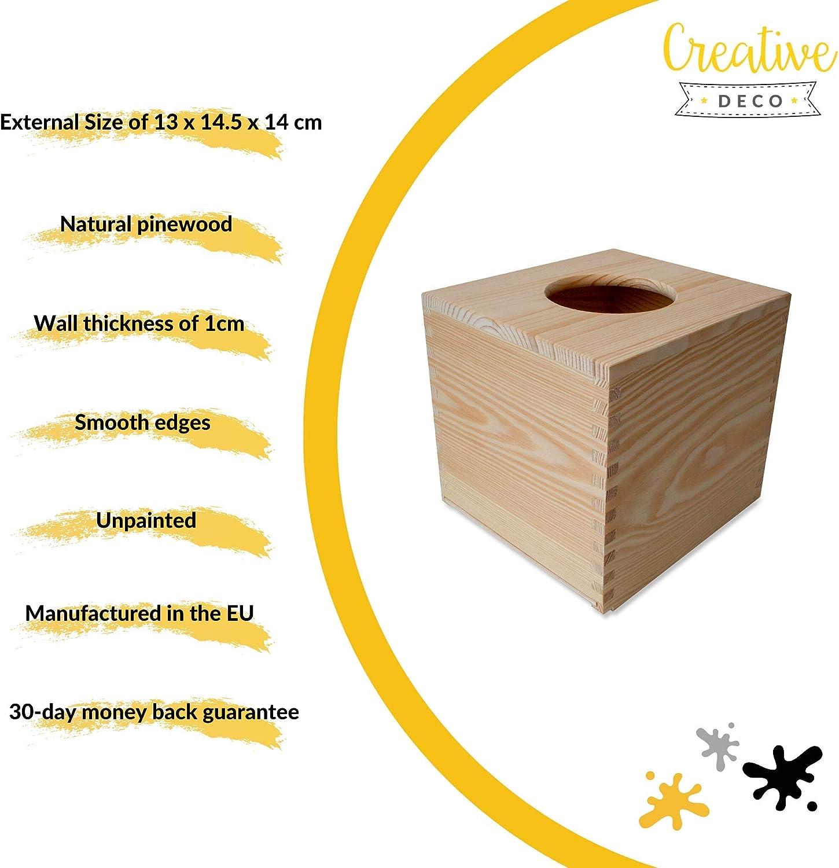 Beige Bamb/ú 14 x 14 x 14 cm Relaxdays Caja para pa/ñuelos Cuadrada