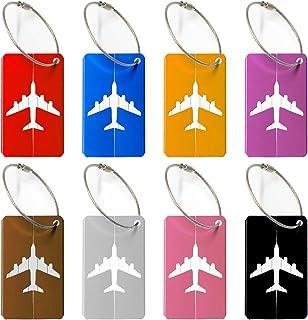 Viaggio bagagli Tag valigia bagagli Bag Tag ID viaggio borsa Tag Airlines bagagli etichette Pack di 8 wellead rjkjzxn0037