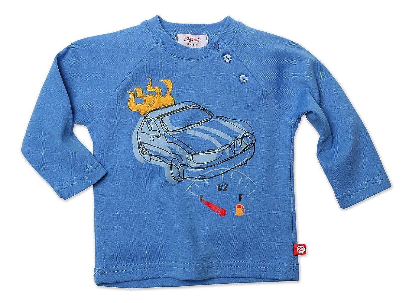 Zutano Baby Boys Motorway Applique Raglan Long//Sleeve Tee