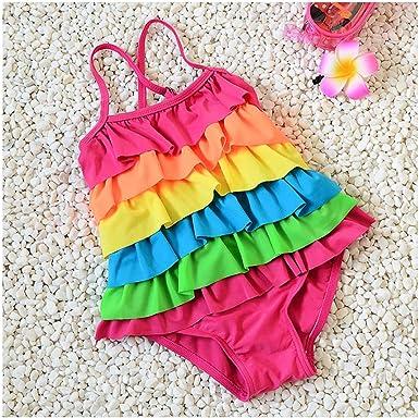 Unicorn Fantasy Wenge Girls Bathing Suits Bikinis Rainbow Unicorn Swimsuits One Piece Swimwear