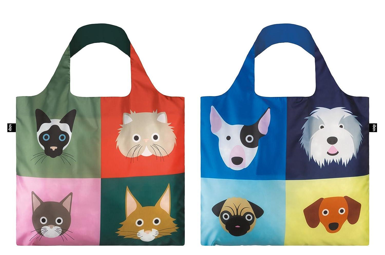 LOQI SC-PK Stephen Cheetham - Bolsa de la compra reutilizable para gatos y perros (2 unidades)