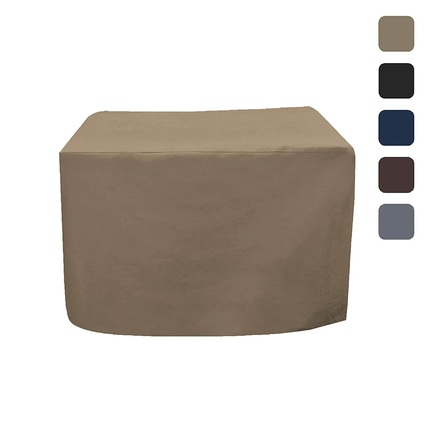 Fire Pit Outdoor Covers - Waterproof, 100% UV Resistant Square Fire Pit Cover, 12 Oz PVC Fabric with Air Pockets and Drawstring for Snugfit to Withstand Winds & Storms. (30