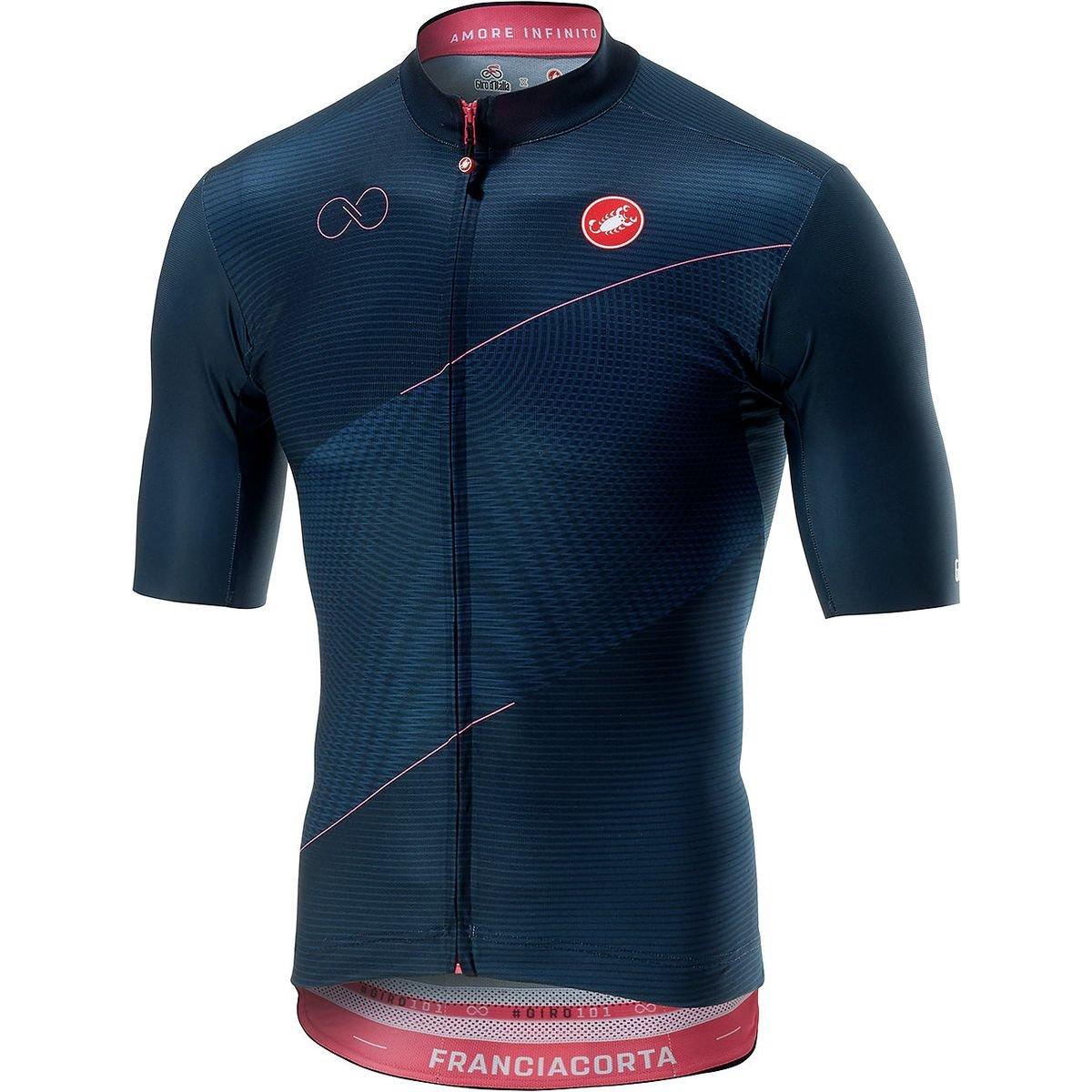 Castelli FranciacortaフルジップJersey – Men 's B07CYQZ81Q XXX-Large|Blu Scuro Blu Scuro XXX-Large